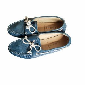 ECCO teal extra width flats size 38